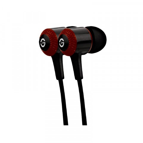 Earphones Getttech  MI-1250R Hard with microphone, black & red, 3.5 mm