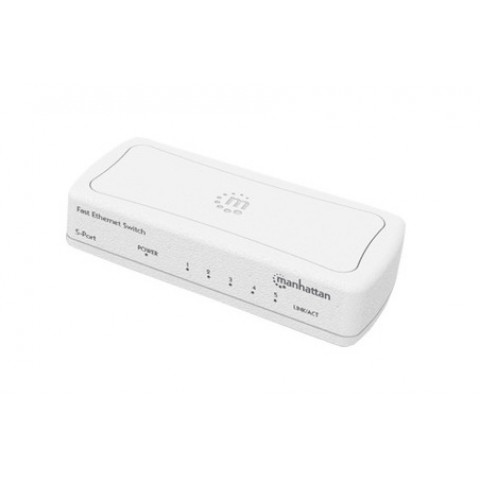 SWITCH ETHERNET MANHATTAN 5 PTOS BLANCO MH 560672