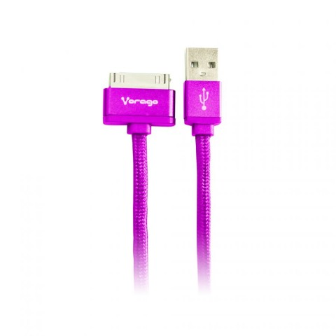CABLE VORAGO CAB-118 USB-APPLE DOCK 1 METRO MORADO BOLSA