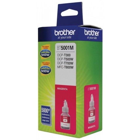 Botella de tinta Brother bt5001m magenta, 5000 paginas