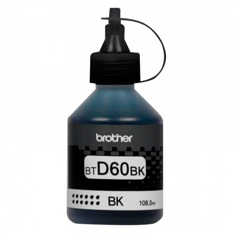 Tanque de tinta Brother btd60bk negro, 6500 paginas