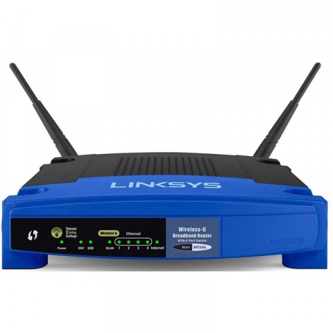 Router Linksys con srx200, inalambrico, 54mbps, 2.4ghz, rj-45, wan, lan, con 2 antenas, compatible con windows xp/vista (wrt54gl
