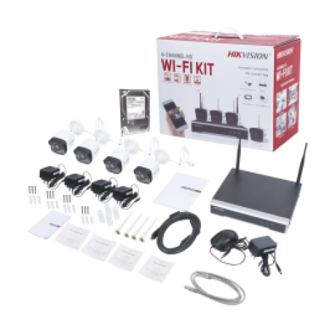 KIT IP WIFI HIKVISION 1080P NVR 4CANALES 4CAM BALA HDD 1TB(NK42W01TWD)