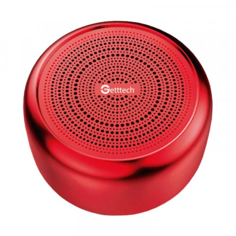 Mini portable speaker Getttech GAM-31501R Melodic, bluetooth 4.2, red