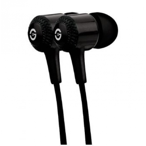 Earphones Getttech MI-1250N Hard with microphone, black, 3.5 mm