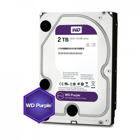 "Disco duro interno Western Digital wd20purz purple, 2tb, sata iii, 3.5"", 5400rpm, 64mb cache"