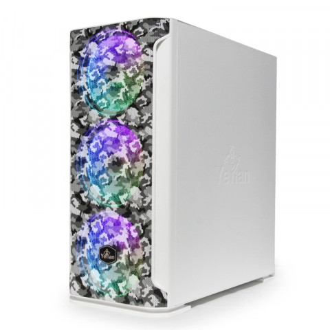 Yeyian Gaming PC Case  Hollow 2500, White Camouflage - Model: YGH-49704