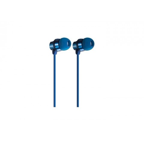 AUDIFONOS ACTECK IN-EAR CON MICROFONO METALICOS COLOR AZUL MB-02018