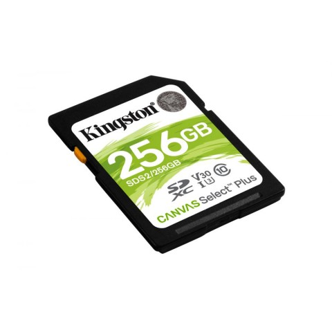 MEMORIA SD KINGSTON SDXC Canvas Select 100R CL10 UHS-I V30 (SDS2/256GB)