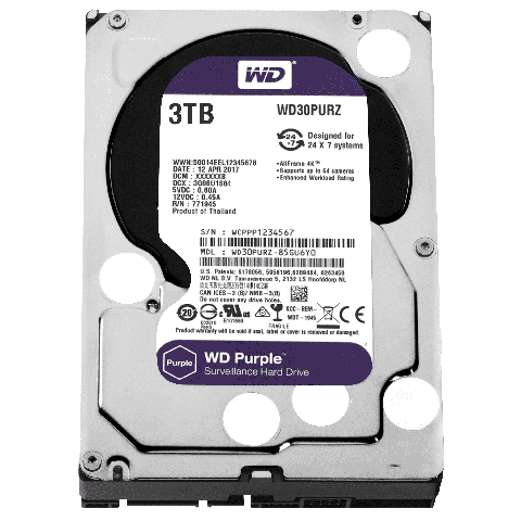 "Disco duro interno Western Digital wd30purz IntelliPower, 3tb, sata iii, 3.5"", 5400rpm, 64mb cache"