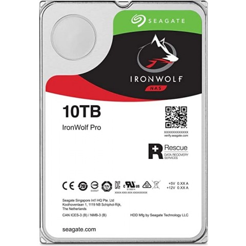 DISCO DURO INTERNO SEAGATE 10TB 3.5 ST10000VN0008 256 7200RPM IRONWOLF