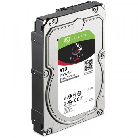 DISCO DURO INTERNO SEAGATE 6TB 3.5 ST6000VN001 256MB 5400RPM IRONWOLF