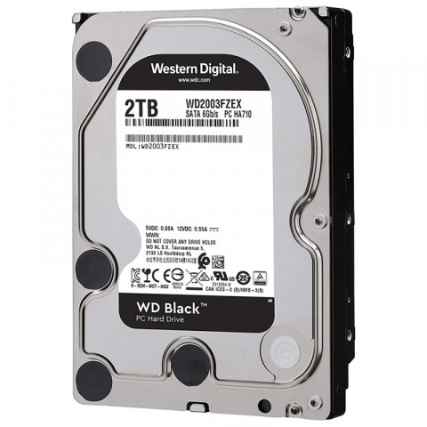 "DISCO DURO INTERNO WD 2TB  3.5"" WD2003FZEX 64MB SATA3 7200RPM BLACK"